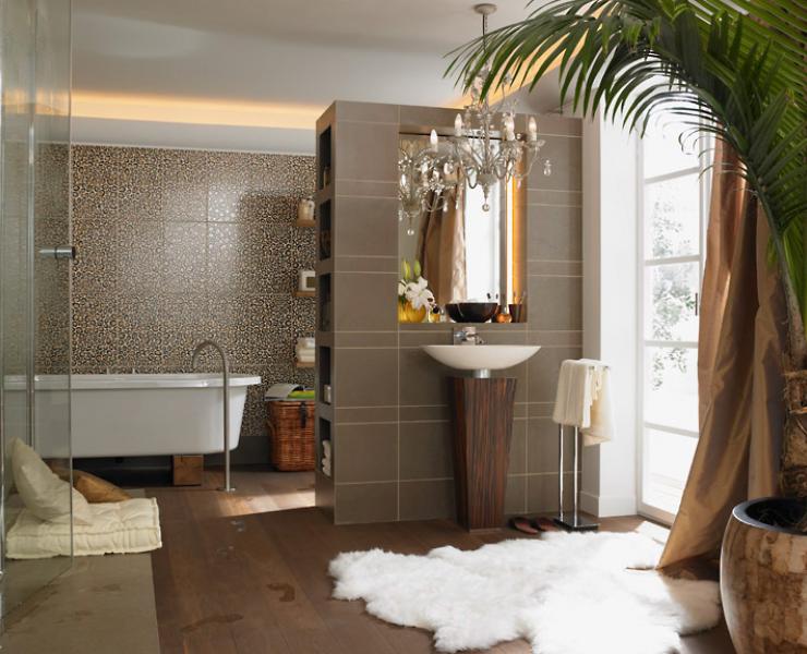 Luxuriöse Dschungeloptik Im Badezimmer | Luxus, Teppiche Und Luxus ... Wohnen Badezimmer Fliesen