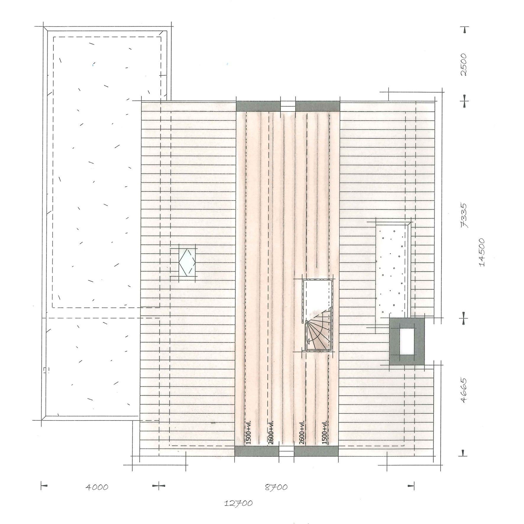 Huis bouwen villa Icarusblauwtje plattegrond zolder