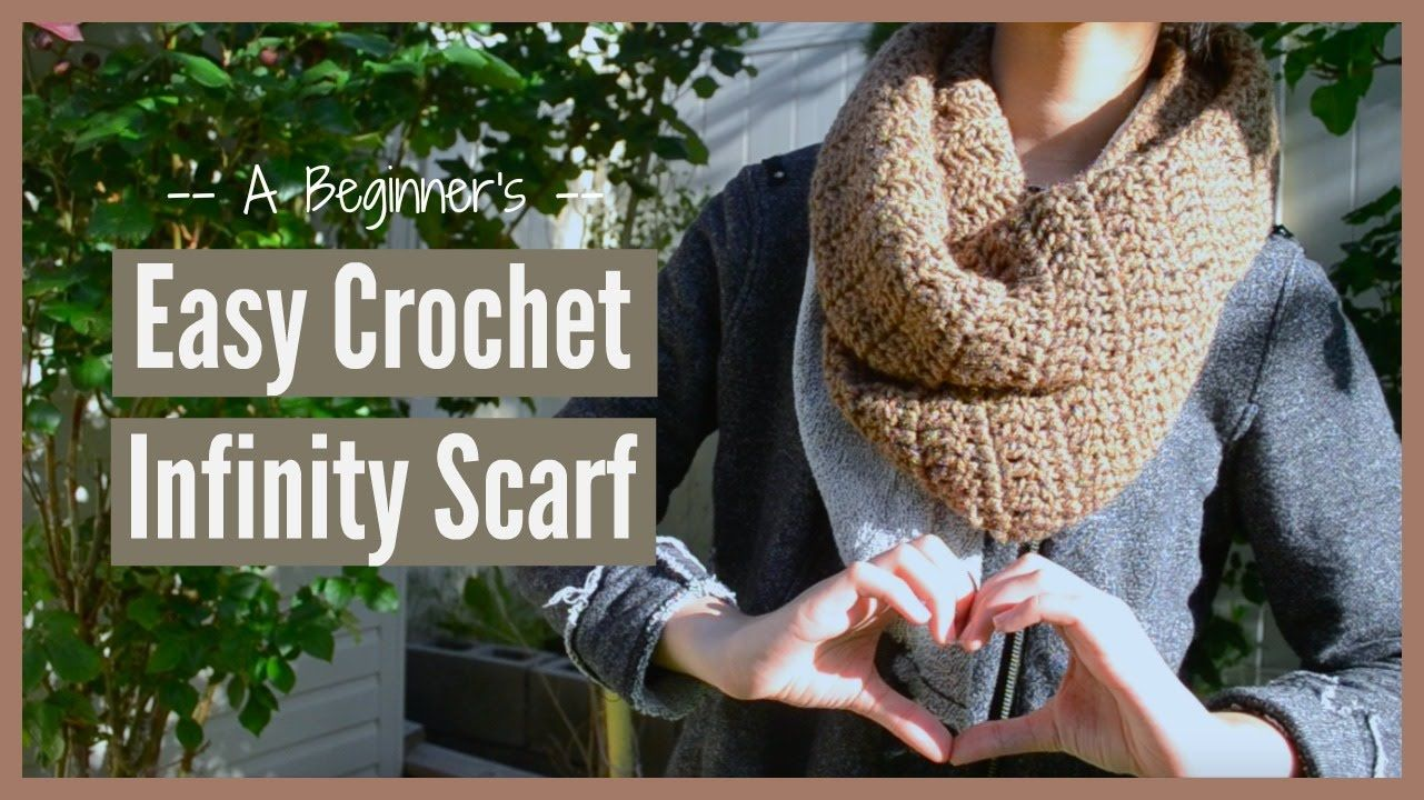 A Beginner\'s EASY Crochet Infinity Scarf | Ms. Craft Nerd - YouTube ...
