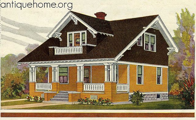 Sears Kit Home Westly In Color From 1918 Catalog House