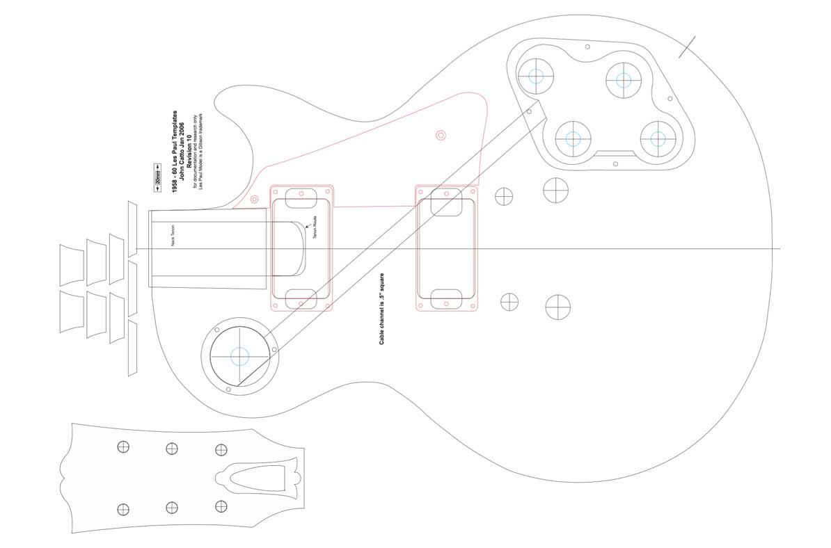 Gibson Les Paul Guitar Templates