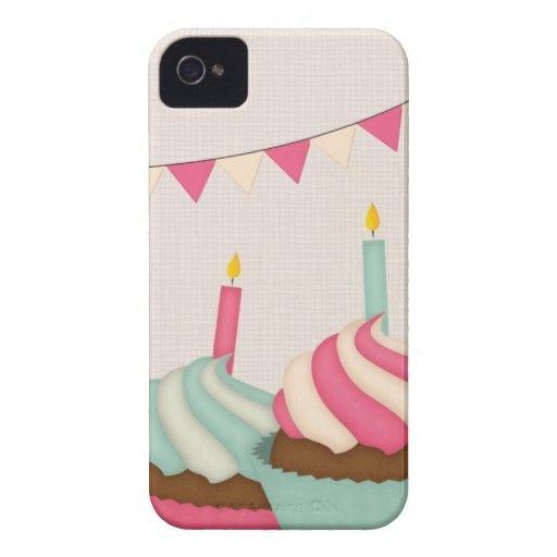 Torta dulce del caramelo de la magdalena Case-Mate iPhone 4 carcasas