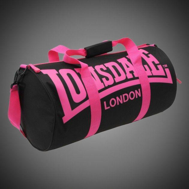 8ffd9c1b59 Sportovní taška Lonsdale Barrel black pink. Popruh na rameno připínatelný k  tašce. Dva