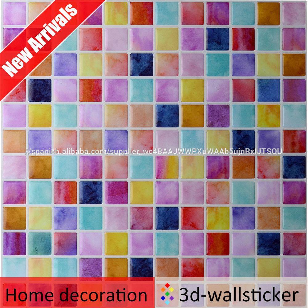 Venta caliente estilo fresco muti-color 3D gel mosaico azulejo de la ...