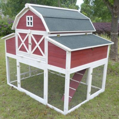 Find producer 39 s pride red barn 8 chicken chicken coop in for Red chicken coop