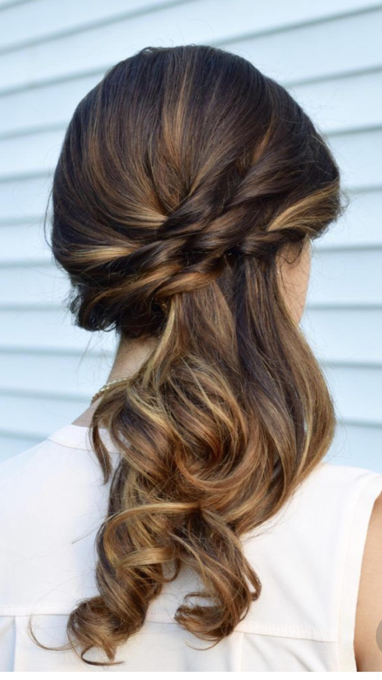 Hermosos Peinados Side Ponytail Wedding Hairstyles Side Ponytail Hairstyles Bridesmaid Hair Side