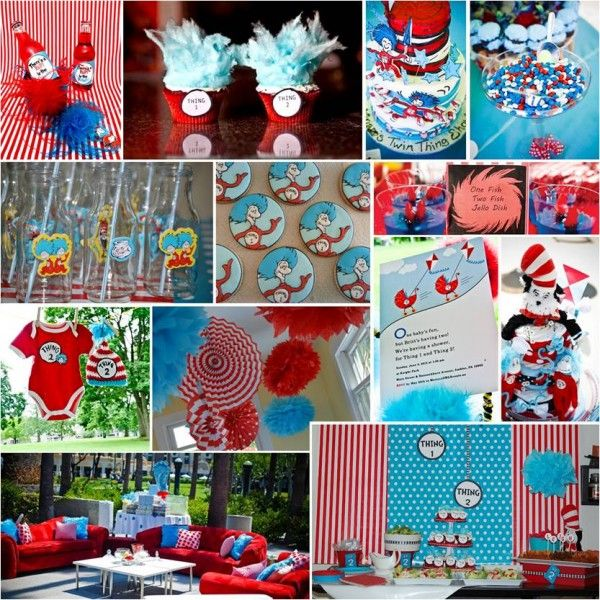 Pretty parties thing one thing two twin baby shower on for Baby shower decoration ideas for twins