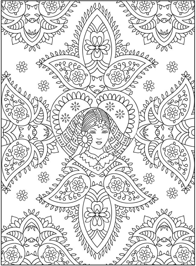 Creative Colouring Patterns : Welcome to dover publications creative haven mehndi