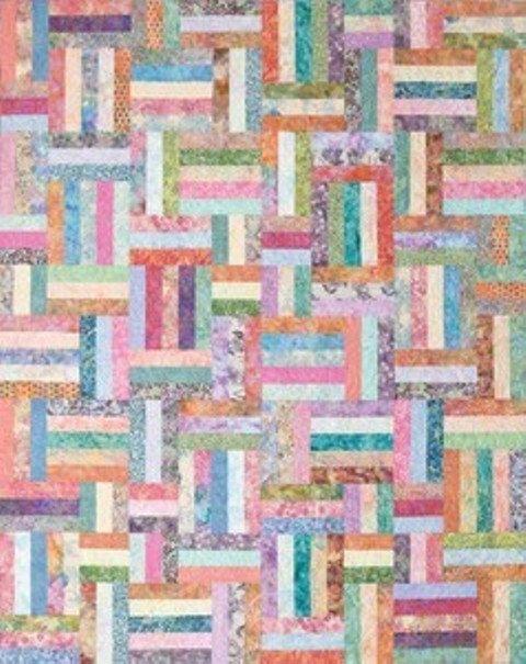 Popsicle Sticks Quilting Kit Diy Pattern Batik Fabric To Make 48