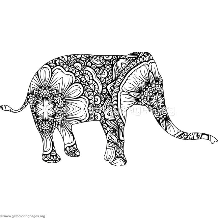 Free to Download Zentangle Animal Elephant Coloring Pages #coloring ...