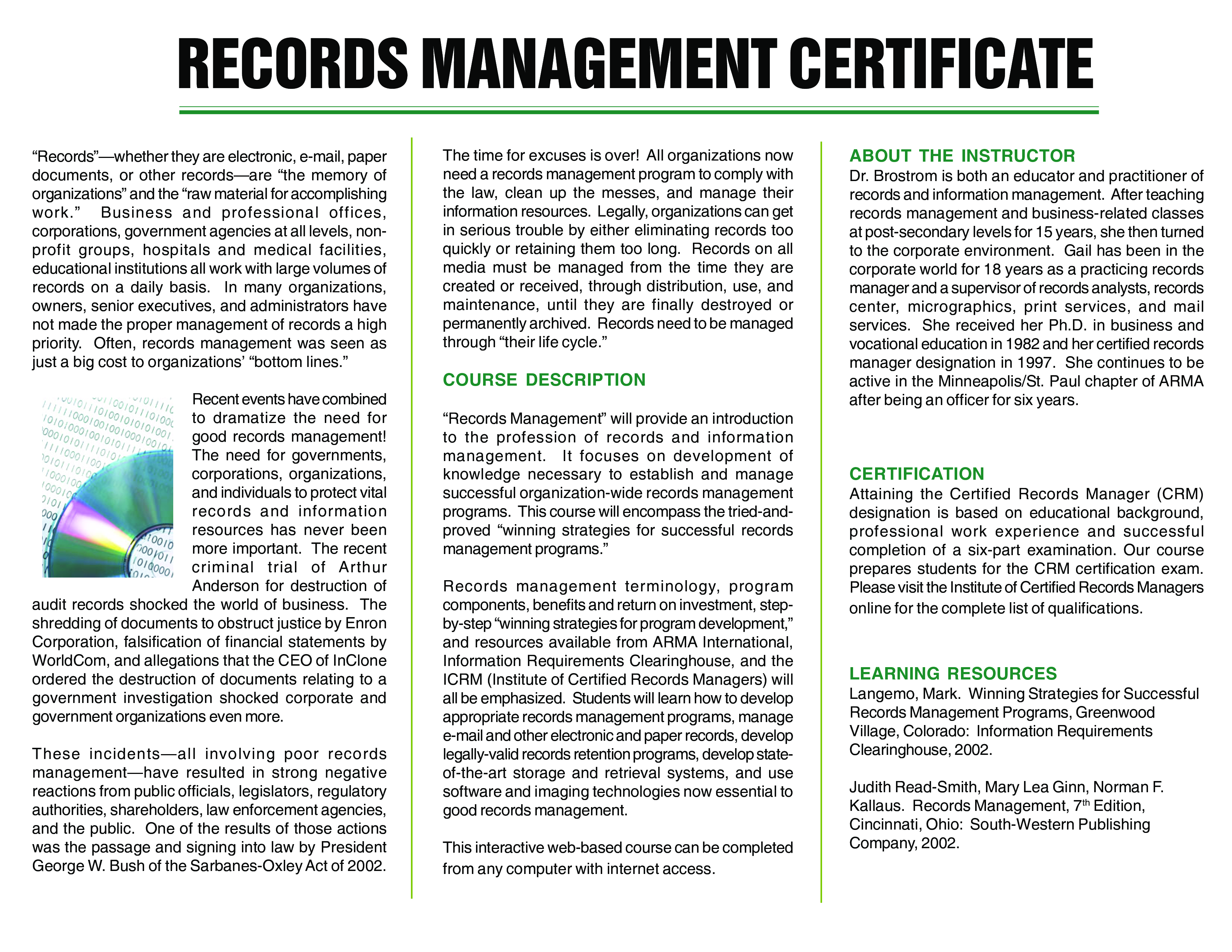 management certificate records template training allbusinesstemplates templates education