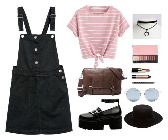 """""""Untitled #132"""" by adelka-paurova ❤ liked on Polyvore featuring FOSSIL, Janessa Leone, For Art's Sake and Bobbi Brown Cosmetics"""
