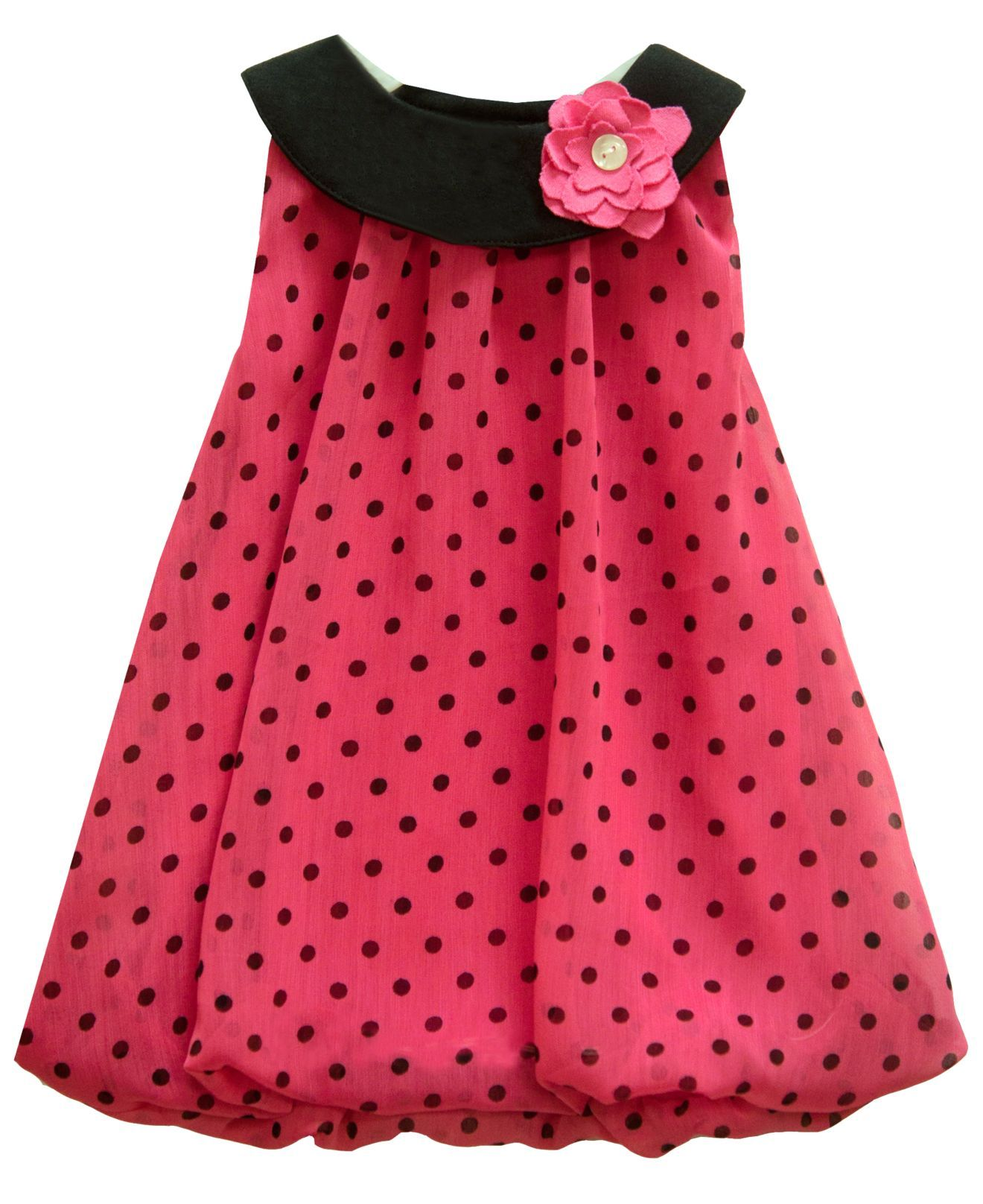 Baby Essentials Baby Dress, Baby Girls Boatneck Bubble Dress ...