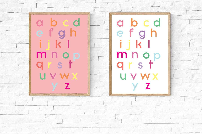 alphabet poster colorful alphabet alphabet art alphabet