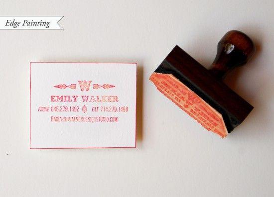 Diy Tutorial Rubber Stamp Calling Cards Stamped Business Cards Calling Cards Diy Business Cards