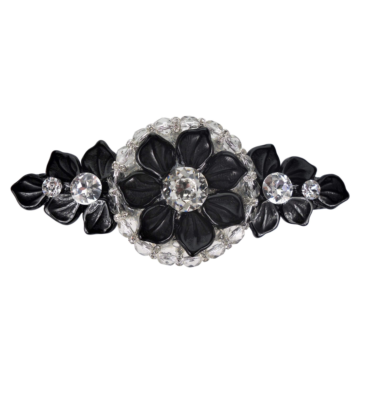 Unique Decorative Drawer Pull Swarovski Crystal Black Flower/Girls ...
