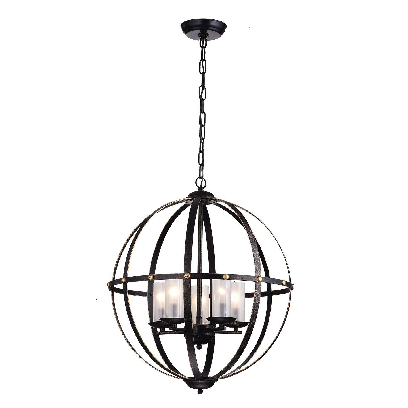 Edvivi 5Light Globe Pendant Globe chandelier, Globe