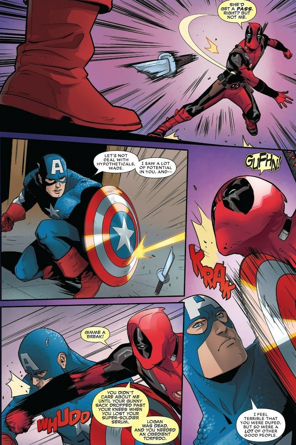 captain america vs deadpool