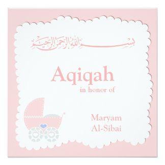 Islamic Aqiqa Baby Invitation Bismillah Muslim Baby