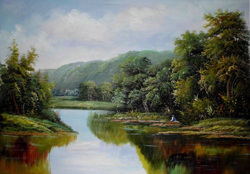 Realistic Oil Paintings Landscape Wholesale Landscape Oil Painting Price   In Moq