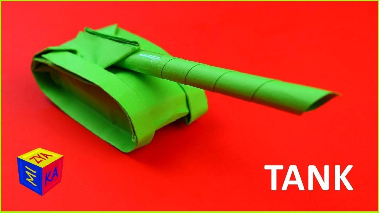 Origami How To Make A Paper Tank Easy Video Tutorial For Children Craft For Boys Paper Tanks Crafts For Boys Boy Tutorials
