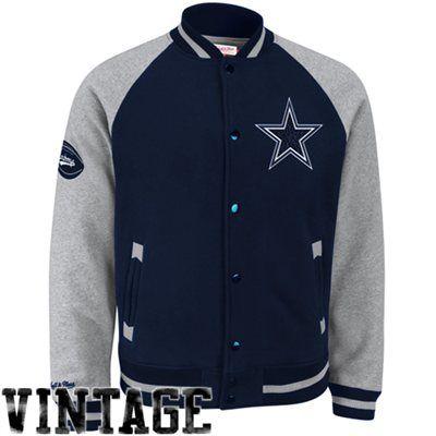 premium selection 73240 4c616 Mitchell & Ness Dallas Cowboys Competitor Full Button Fleece ...