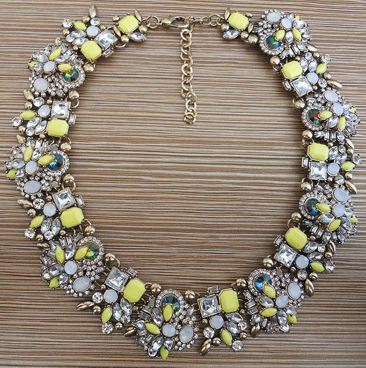 2016 NEW design fashion jewelry collar bib Necklaces & Pendants crystal statement necklace choker collares