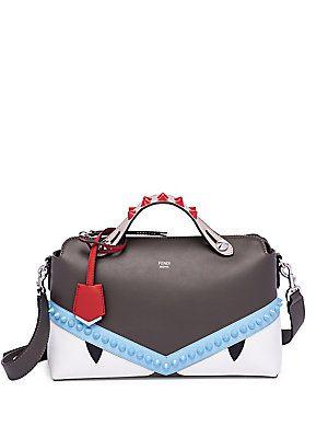 12f2e1543e Fendi Small By The Way Monster Leather Boston Bag
