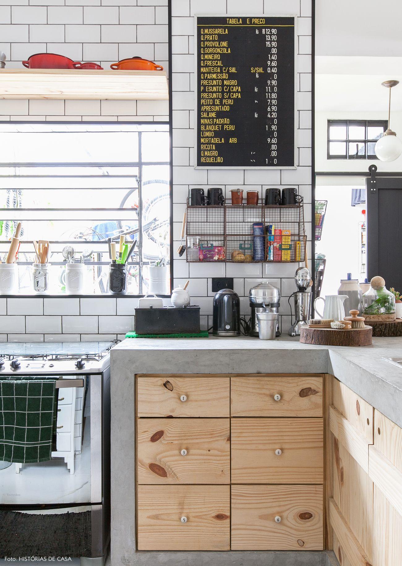 Ideias Em Profus O Puxadores De Porcelana Cozinhas Integradas E  ~ Balcão De Cozinha Em Alvenaria