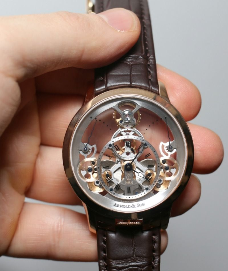 b4854be3756 Arnold   Son Time Pyramid Watch Hands-On Homens Elegantes