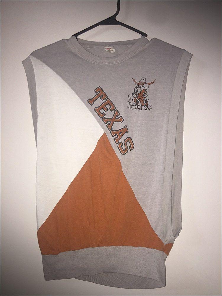 Vintage 70's NCAA Texas Longhorns Sleeveless Tank Shirt - Size Small by RackRaidersVtg on Etsy
