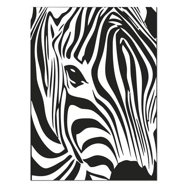 Black White Animal Zebra Wall Art Canvas Posters And Prints Painting Pictures For Living Room Modern Home Decor