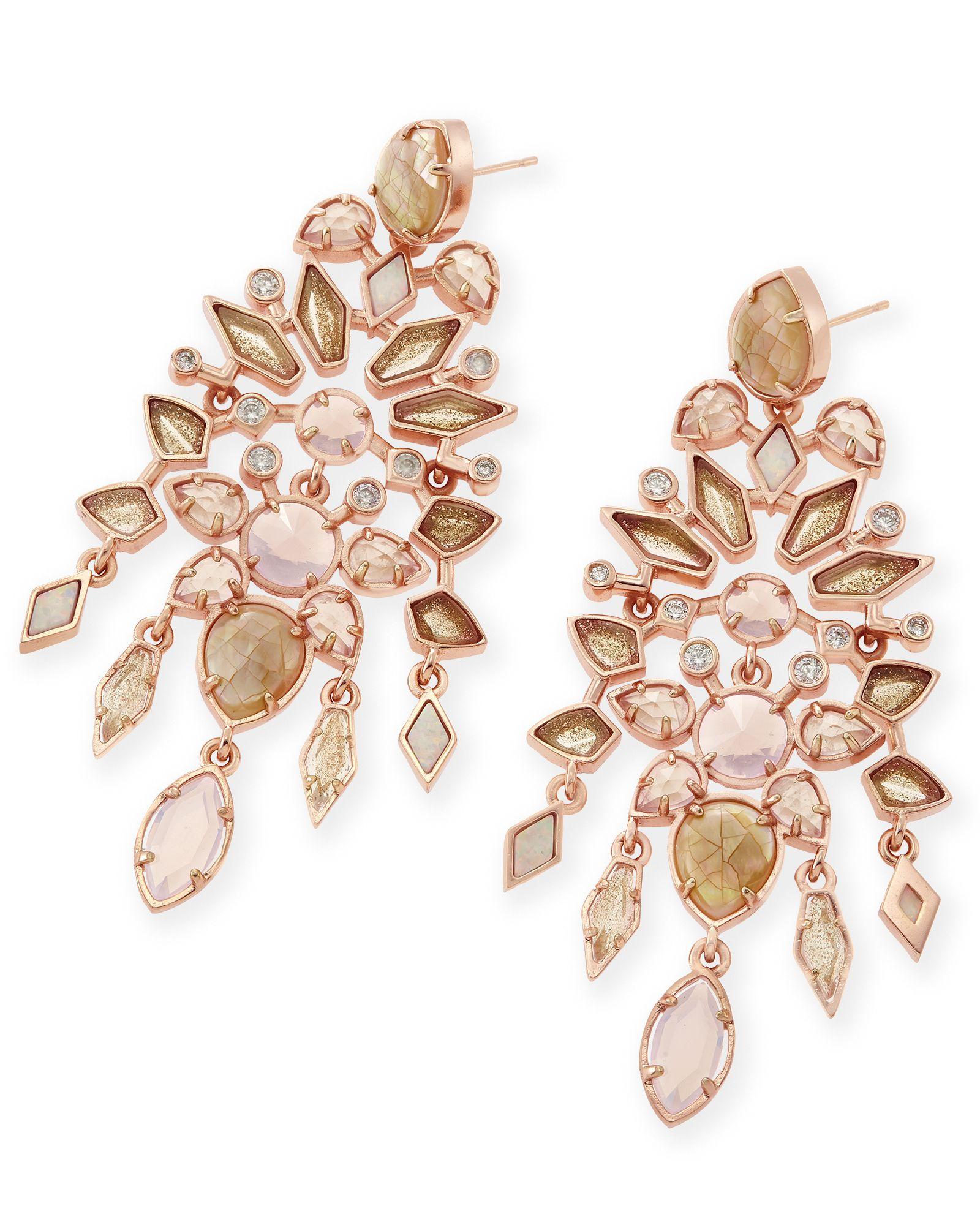 Aryssa Statement Earrings in Rose Zellige Kendra Scott Jewelry