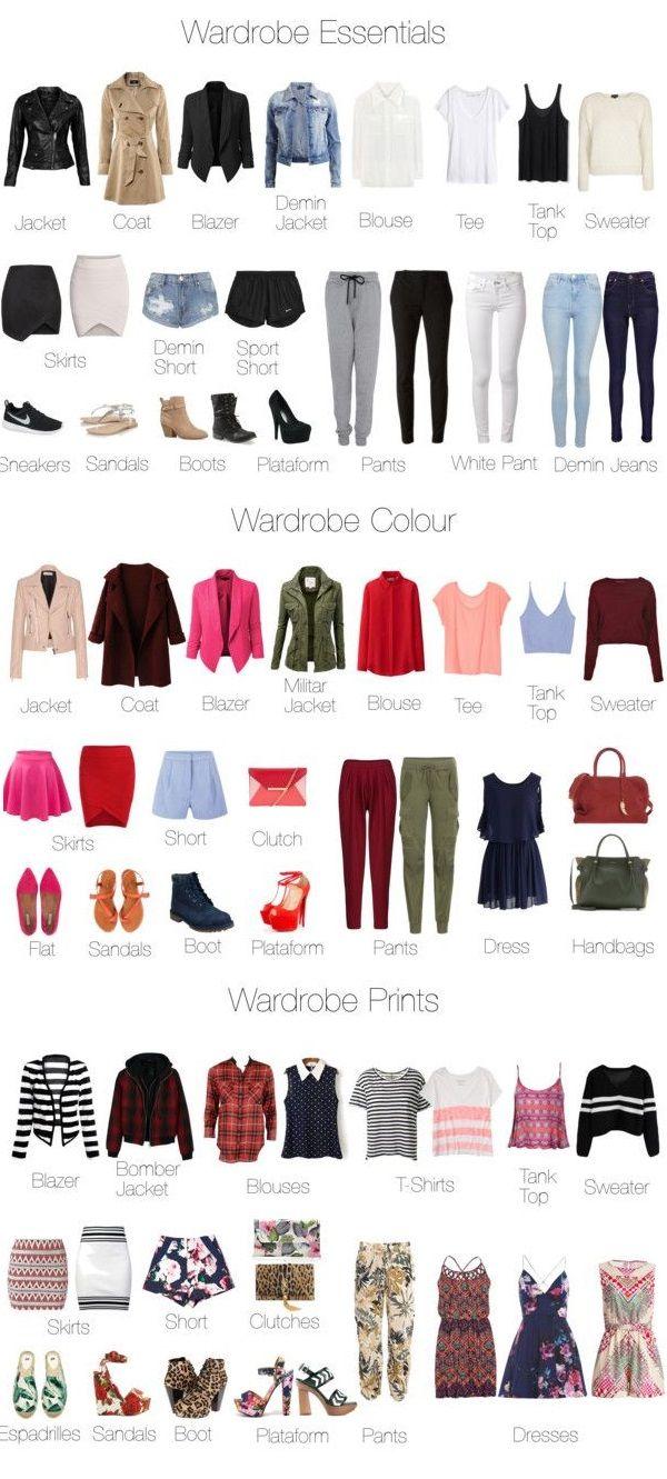 Wardrobe essentials colour prints pinteres for Minimalist essentials