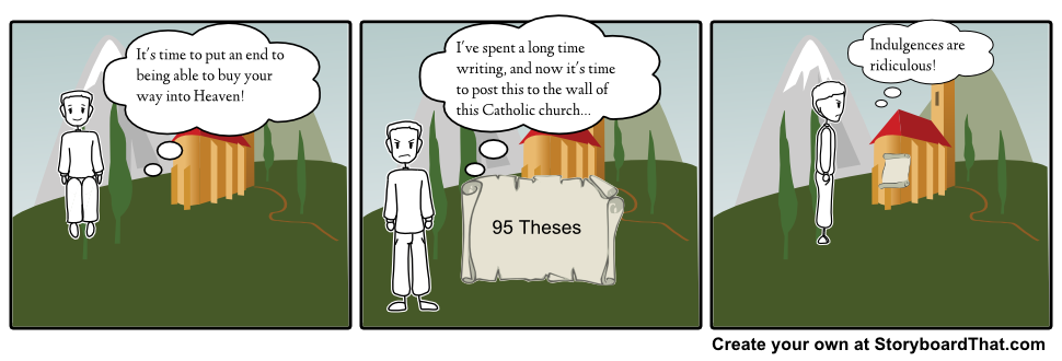 martin luther 95 theses lesson plan Then it goes into the story of martin luther, from his 95 theses the 95 theses and the birth of the protestant reformation curriculum resource & lesson plans.