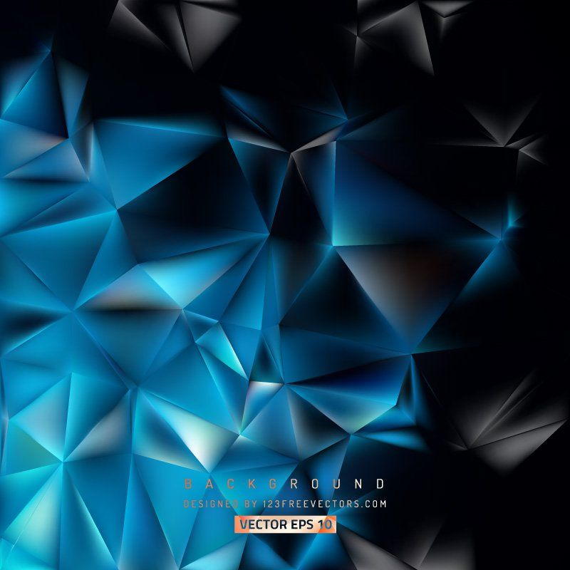 Blue Black Polygon Triangle Background Triangle Background Free