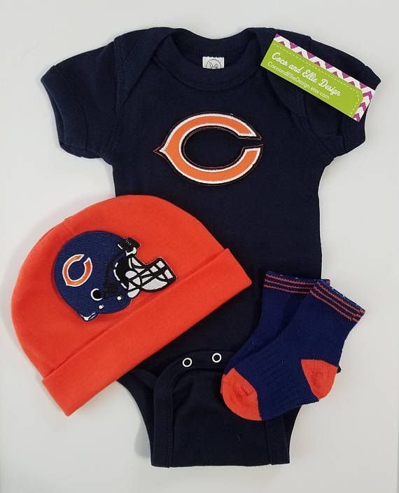 6975f699 chicago bears outfit with hat for baby/bears for baby/chicago | baby ...