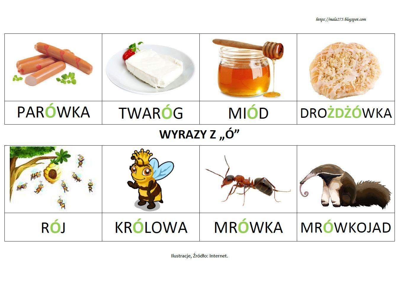 Blog Edukacyjny Dla Dzieci Wyrazy Z O Polish Language Flashcards Language