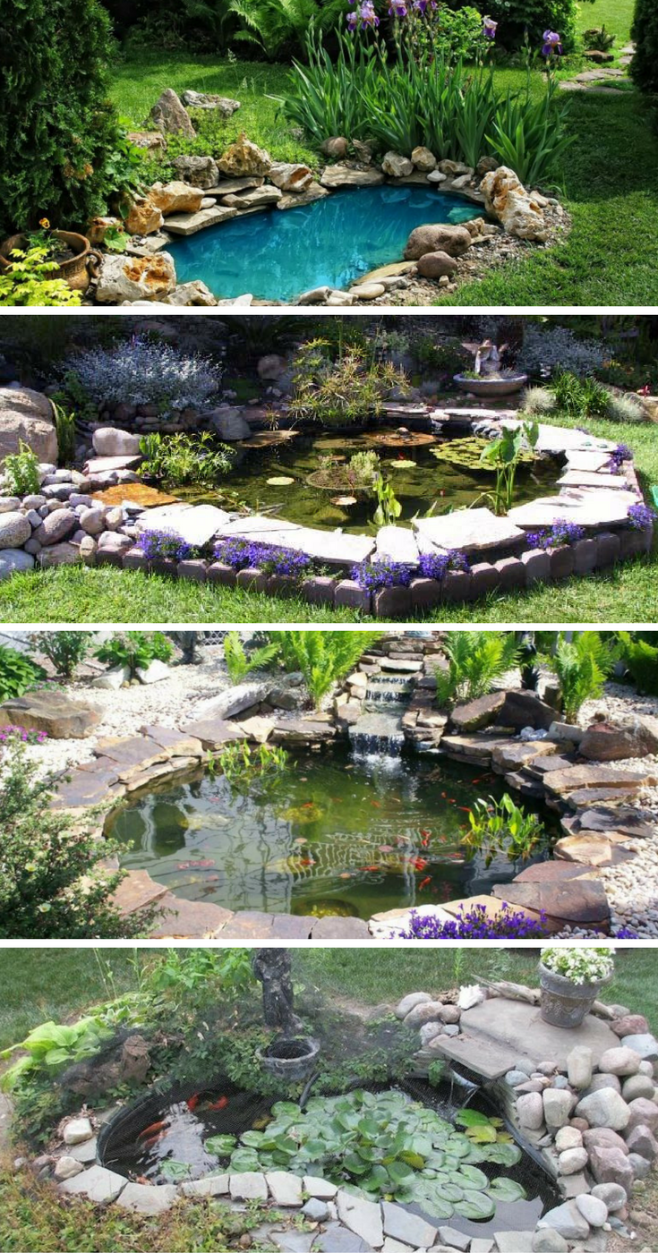 15 awe inspiring garden ponds that you can make by for Making a koi pond