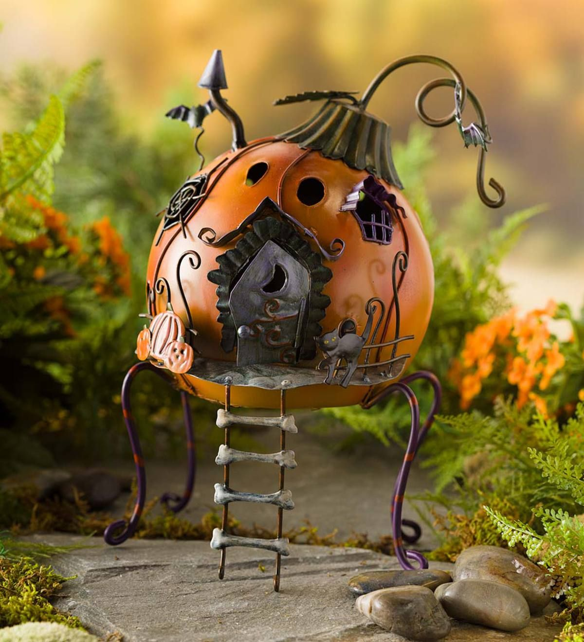 Use this quirky and colorful Miniature Halloween Pumpkin