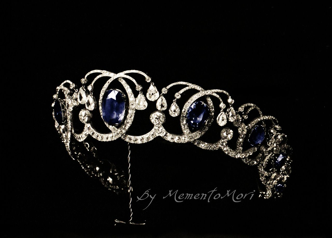 diamond and sapphire tiara from the russian crown jewels