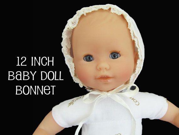 12 inch baby doll hat / Mine to Love 12 inch by kkdesignerdolls