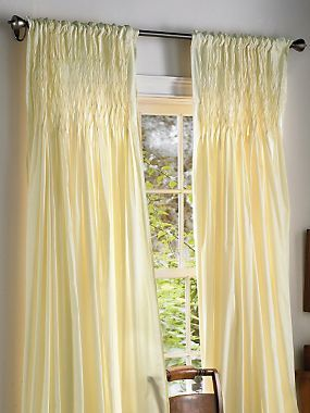 Pale Yellow Curtains   So Fresh!