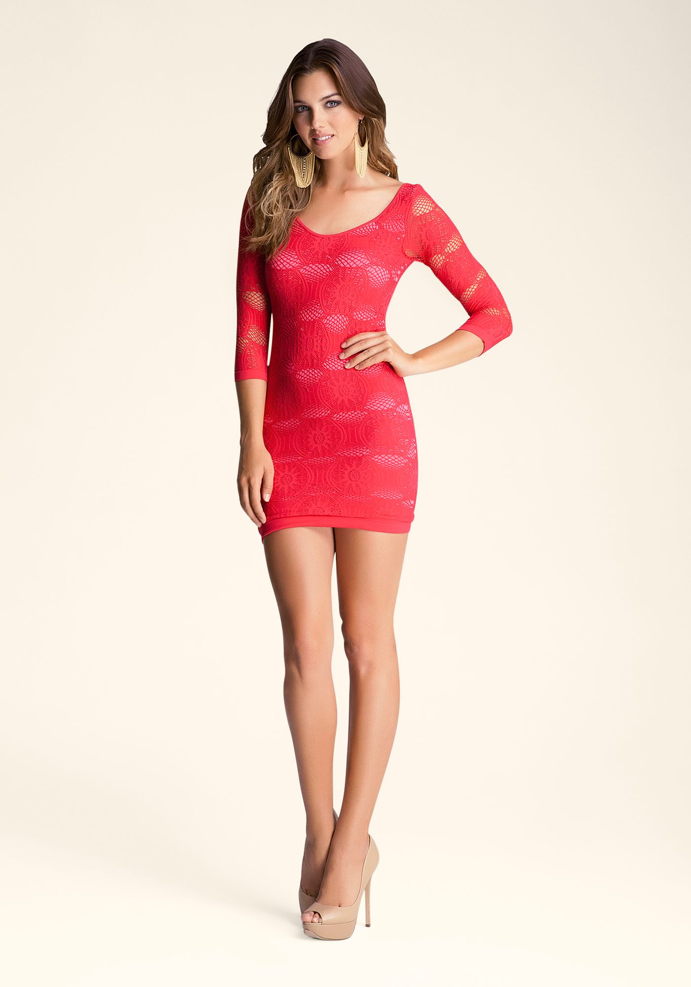 289afa7d08f Bebe ---- Flower-Lace-Dress ---- Rachel Moore ---- 206297-bxy ---