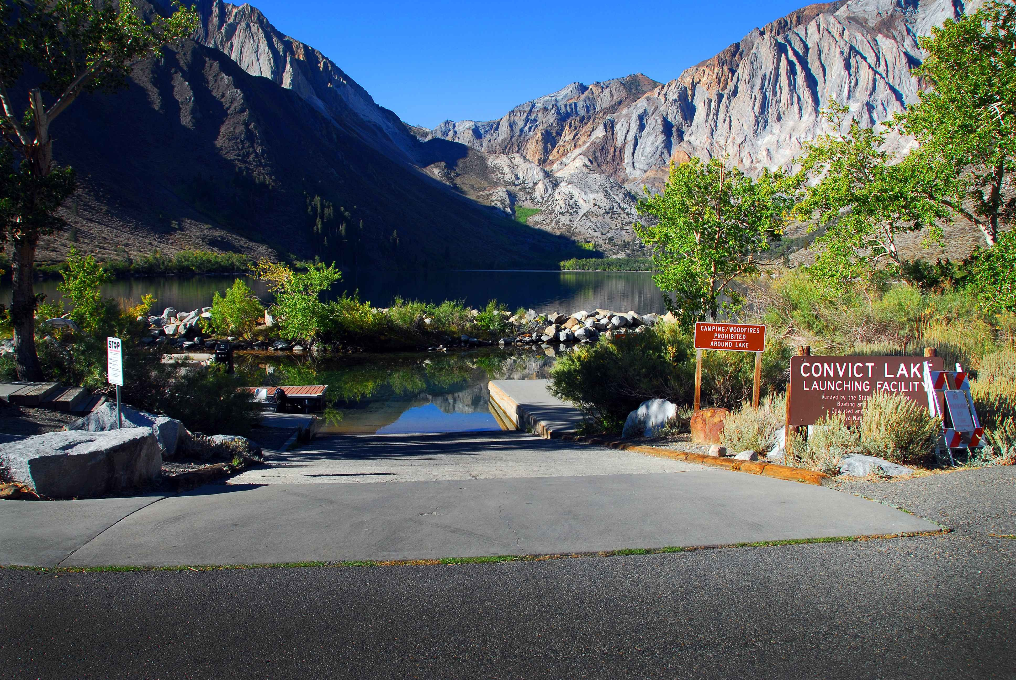 Convict lake boat ramp with images mammoth lakes lake