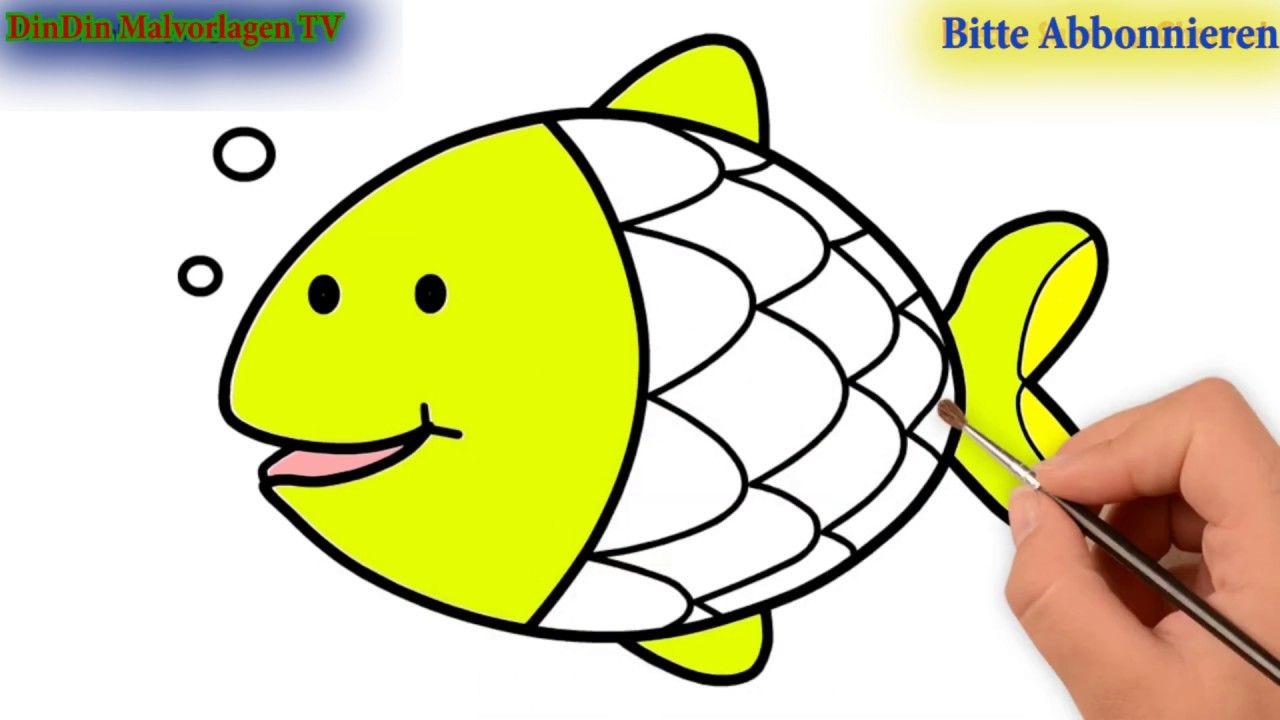 Wie Zeichnet Man Meerestiere Zeichnen Und Ausmalen Fur Kinder Youtube Meerestiere Ausmalen Fur Kinder Fisch Zeichnung