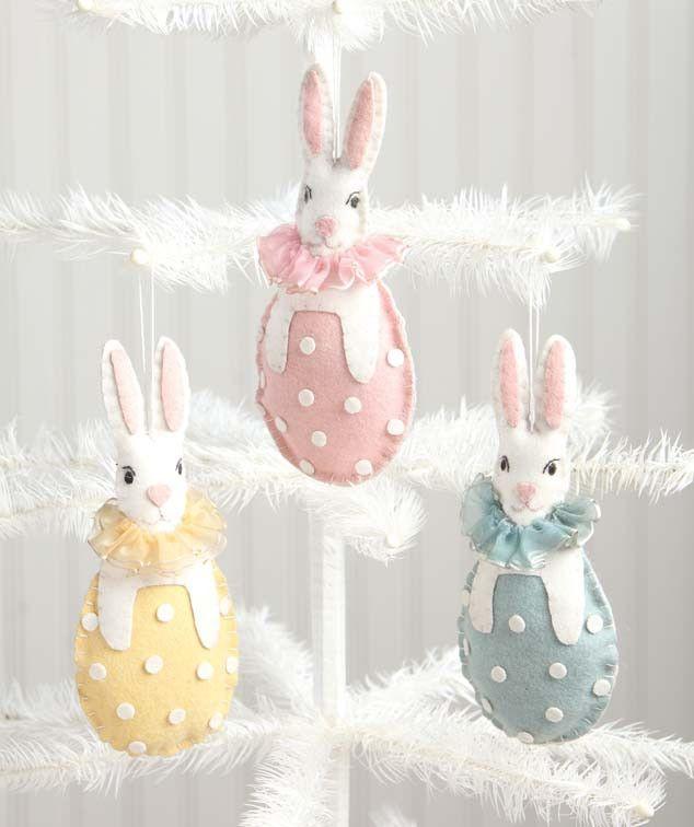 bunny in egg wool ornaments easter pinterest ostern ostern n hen und osterhase. Black Bedroom Furniture Sets. Home Design Ideas