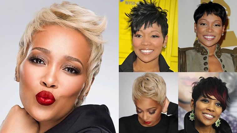 2018 Short Haircuts For Black Women Over 40 With Fine Hair Short