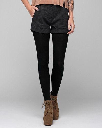 cute woolen dark grey oliver shorts.