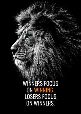 'Winners Focus On Winning ' Metal Poster Print - Millionaire Quotes | Displate